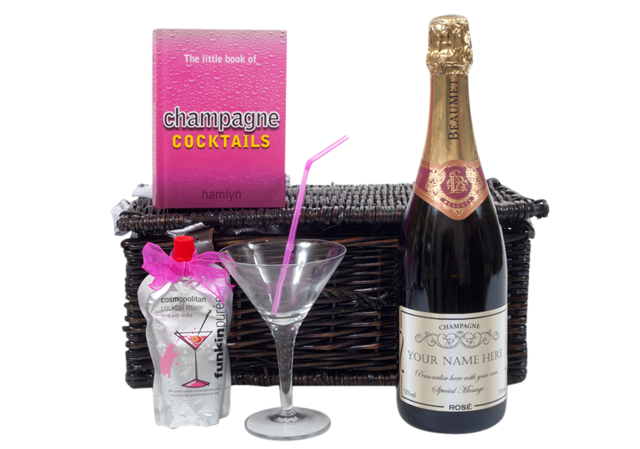 Personalised-champagne-in-hamper