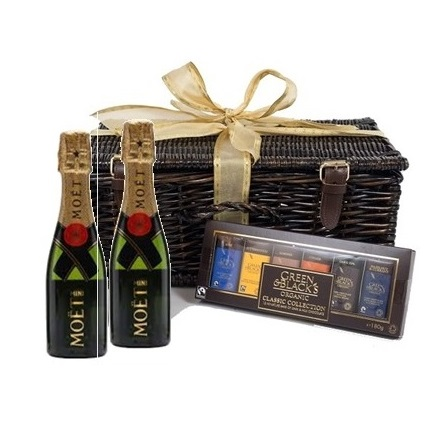 Miniature Moet Champagne and Chocolate Hamper
