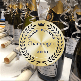award winning personalised champagne
