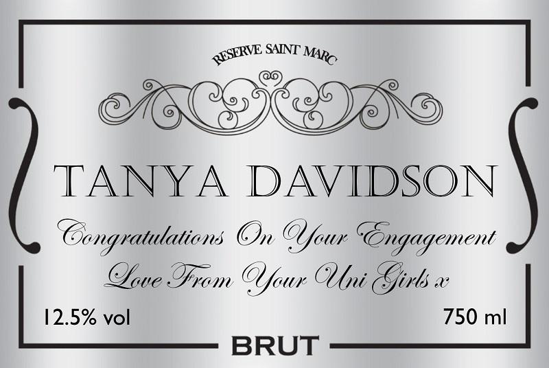 silver-wedding-personalised-wine-label
