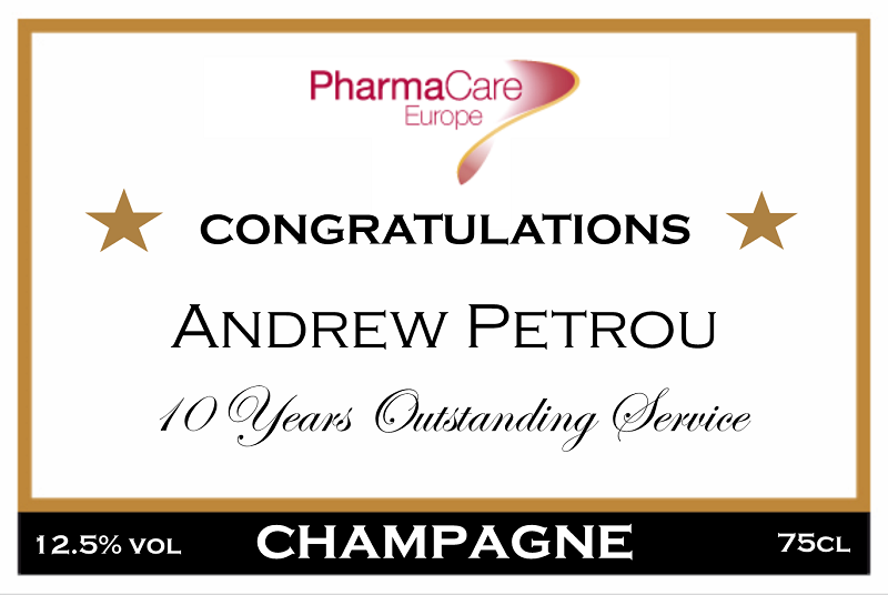 corporate-anniversary-champagne-label-pharmacare