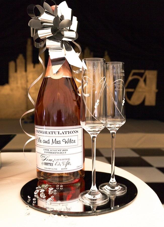 personalised champagne magnum wedding