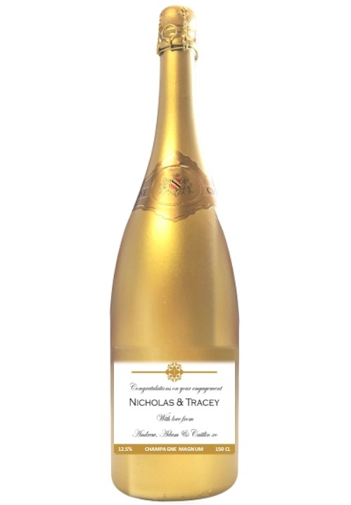 corporate branded champagne magnum