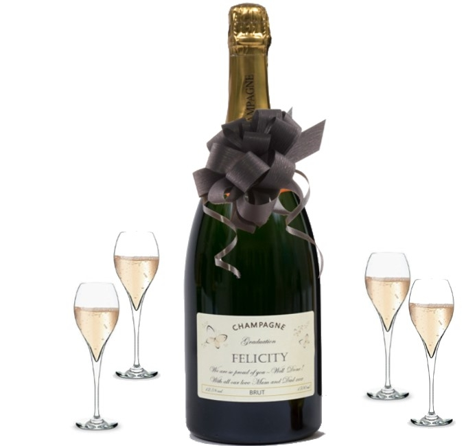 Personalised Cha,pagne Magnum for Wedding Day