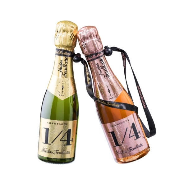 Personalised champagne miniature-bottles