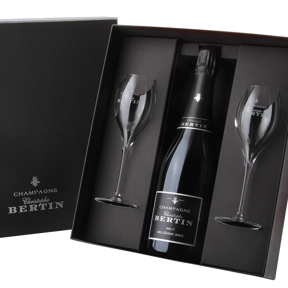bertin champagne and flute gift set