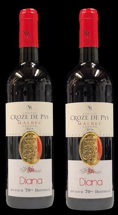Personalised fine wine gift