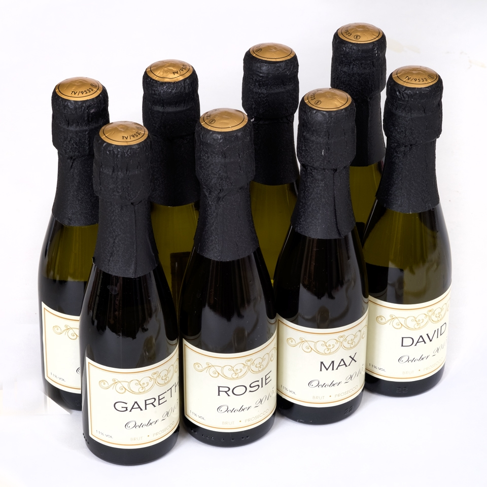 personalised prosecco bottles