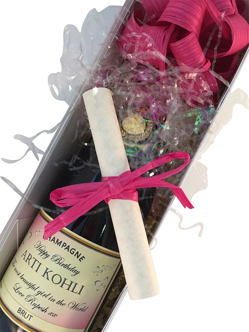 personalised gift message scroll