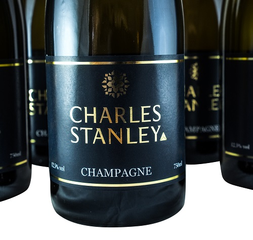 corporate branded champagne