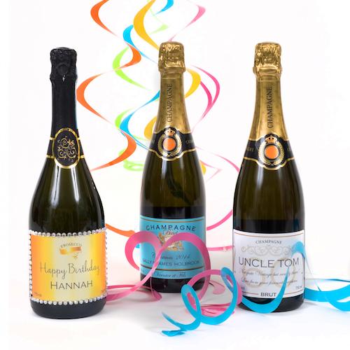 birthday personalised champagne