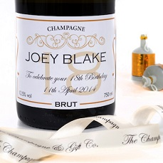 Personalised Champagne Bottle 18th Birthday