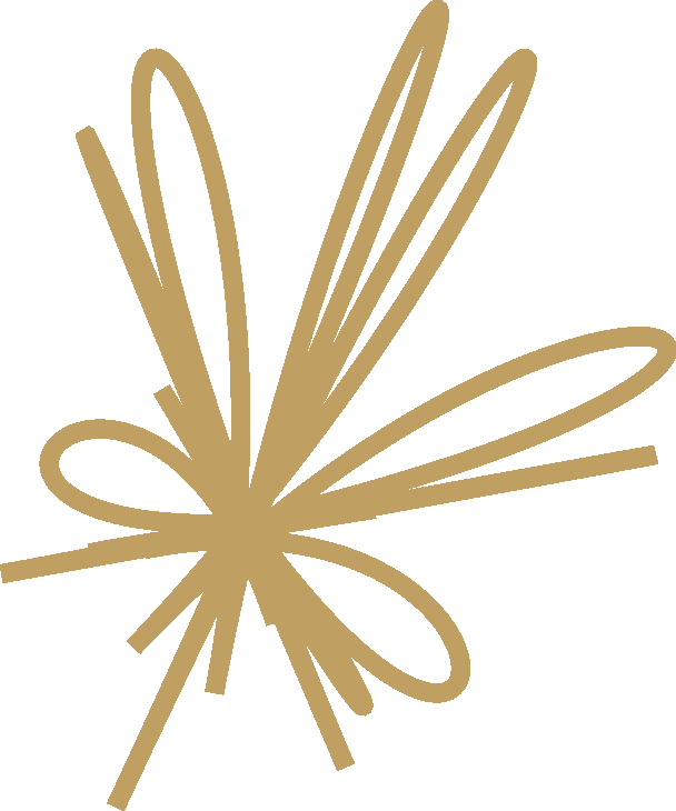 Bow Ornament Gold