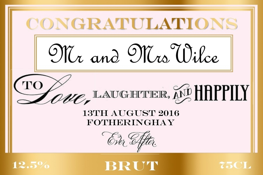 personalised-weddidng-champagne-label-pink