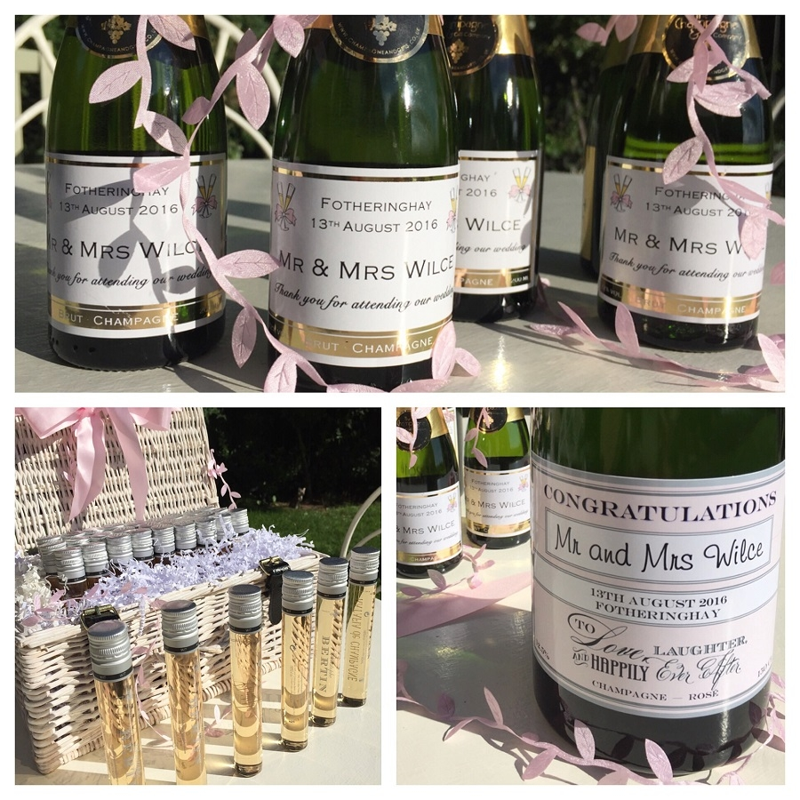 personalised wedding champagne gifts