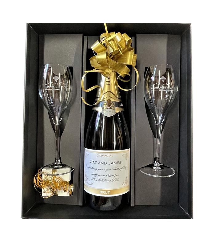 Personalised Champagne Wedding Bottles