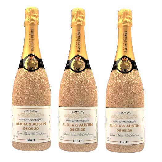 Glitter Bottles for Wedding
