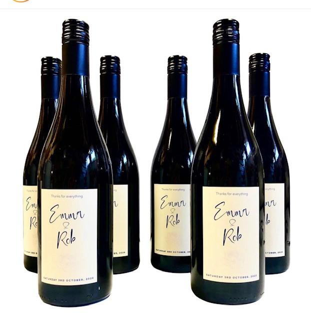 Personalied Wedding Wine